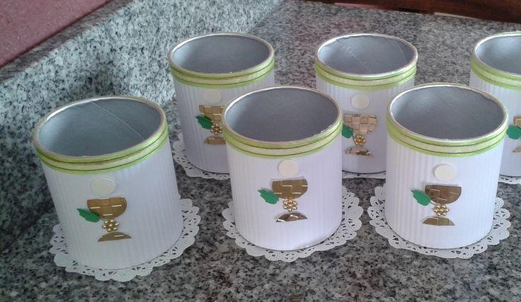 Servilleteros para primera comuni n manualidades - Manualidades para comunion de nina ...