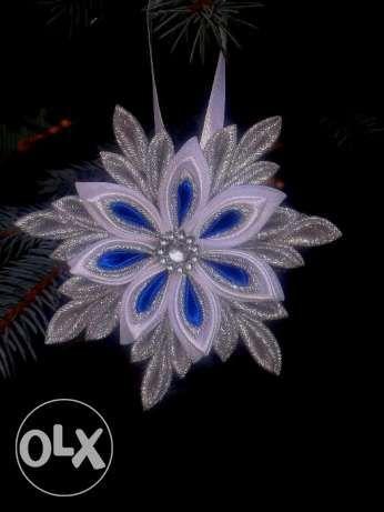 Rękodzieło 6 szt.Śnieżynki Aniołki Ozdoby Świąteczne Choinkowe Ciechanów - image 4