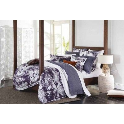 Spring Floral Grape Quilt Cover Set by Florence Broadhurst
