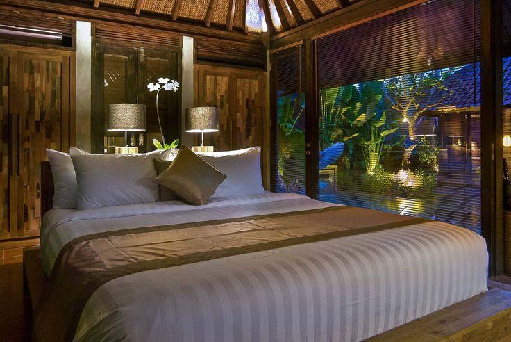 Bali Villa Photography - Komea Villas - bedroom views night time