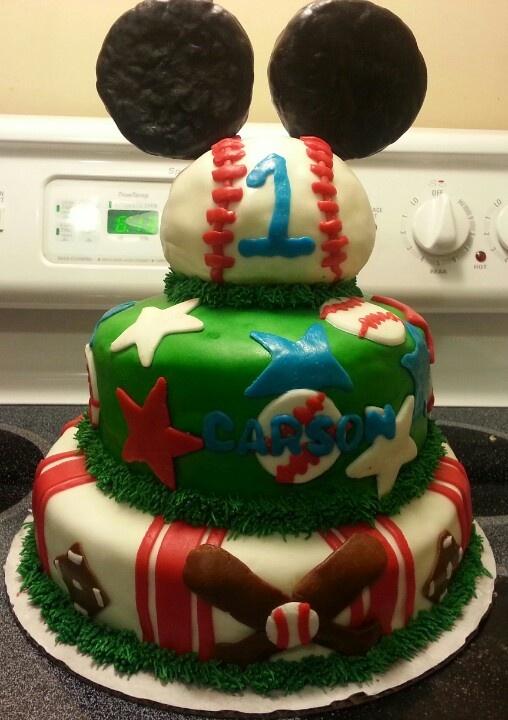 MINNIE & MICKEY. Mickey Baseball Birthday!