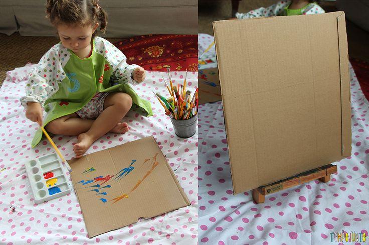 Atividade de artes para crianças de todas as idades - gabi pintando