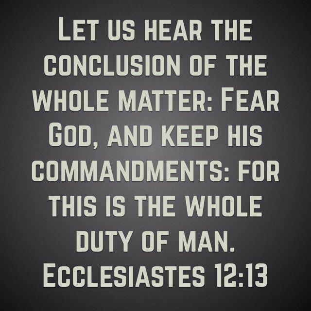 Ecclesiastes 12:13 KJV scripture verses King James Bible memory verse Valerie McDaris
