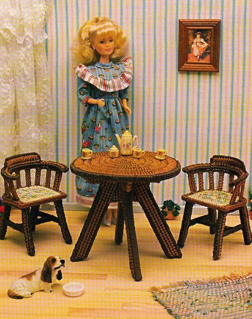 17 Best Images About Plastic Canvas Barbie Furniture On