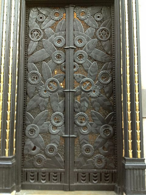 Art Deco Cast Iron Entry for Domus, 181 Madison Avenue, New York City, New York, designed by Edgar Brandt