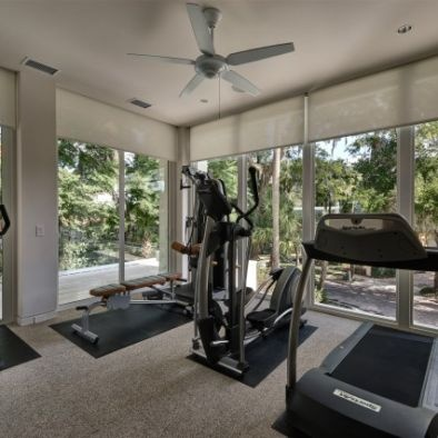 Contemporary Home Gym By Phil Kean Designs   Lots Of Sunlight In The Gym!