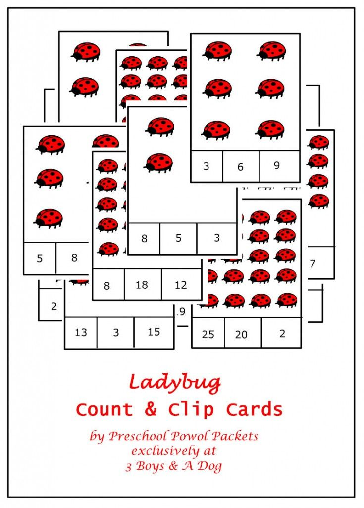 ladybug count and clip card cover 735x1024 The Ladybug Game Counting Cards {Family Game Night}