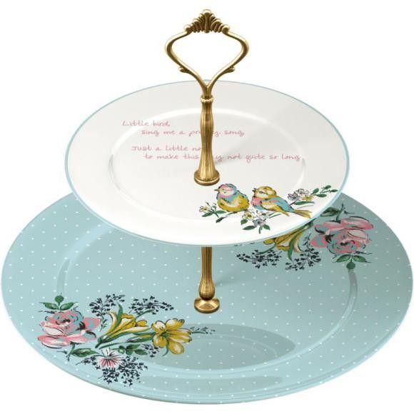 DEKORACE - Porcelánový etažér Bird Song