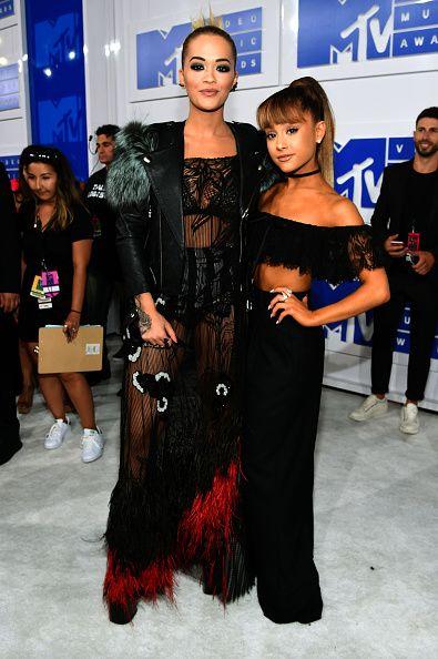 Ariana Grande and Rita Ora at the 2016 MTV Video Music Awards at
