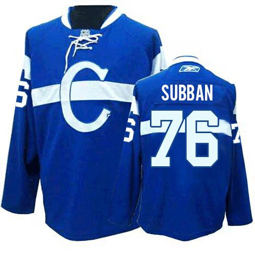 P.K Subban Jersey-Buy 100% official Reebok P.K Subban Youth Premier Blue Jersey NHL Montreal Canadiens #76 Third Free Shipping.