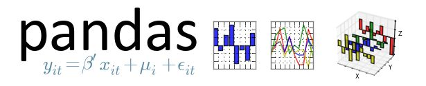 pandas is an open source, BSD-licensed library providing high-performance, easy-to-use data structures and data analysis tools for the Python programming language.