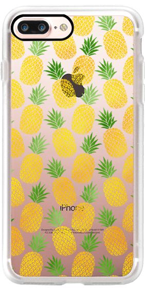 Casetify iPhone 7 Plus Case and other Neon iPhone Covers - Pineapples by Mye De Leon | Casetify