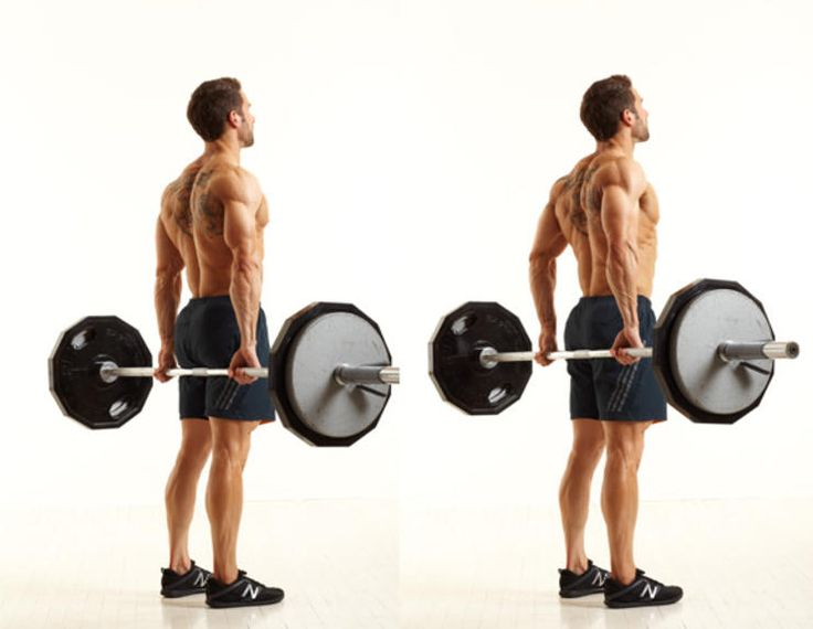 Barbell Behind-the-Back Shrug