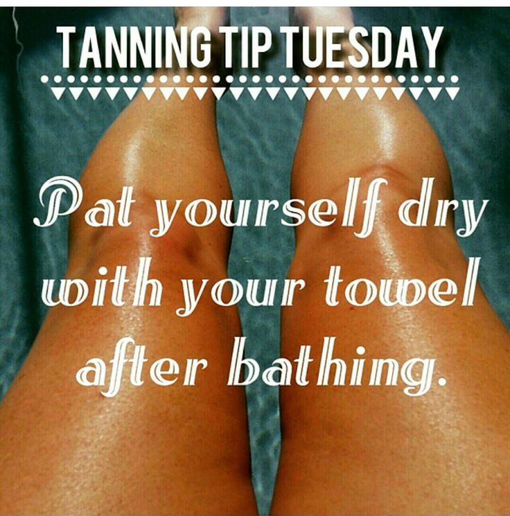 Tanning Tip Tuesday: Patting dry instead of hard wiping will keep your tan…
