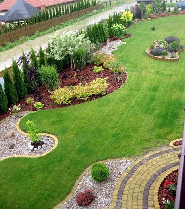 30 Maravillosas Fotos E Ideas Para Decorar Un Jardin Grande Moderno En 2020 Jardines Paisajismo De Patio Jardines Grandes