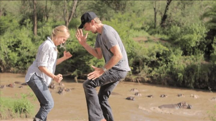 Pin for Later: 16 Kristen Bell and Dax Shepard GIFs That Prove They Win at Love When They Physically Worked For Their Relationship