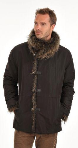 Veste Fourrure Homme Reversible - Canadienne Griffes