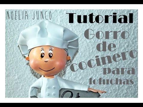 DIY Tutorial ¿Como hacer un gorro de cocinero para fofucha? -  Chef cap for fofucha - YouTube