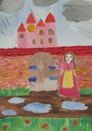 A pink castle is my dreamhouse where only nice people lives. Ruth, 10 years