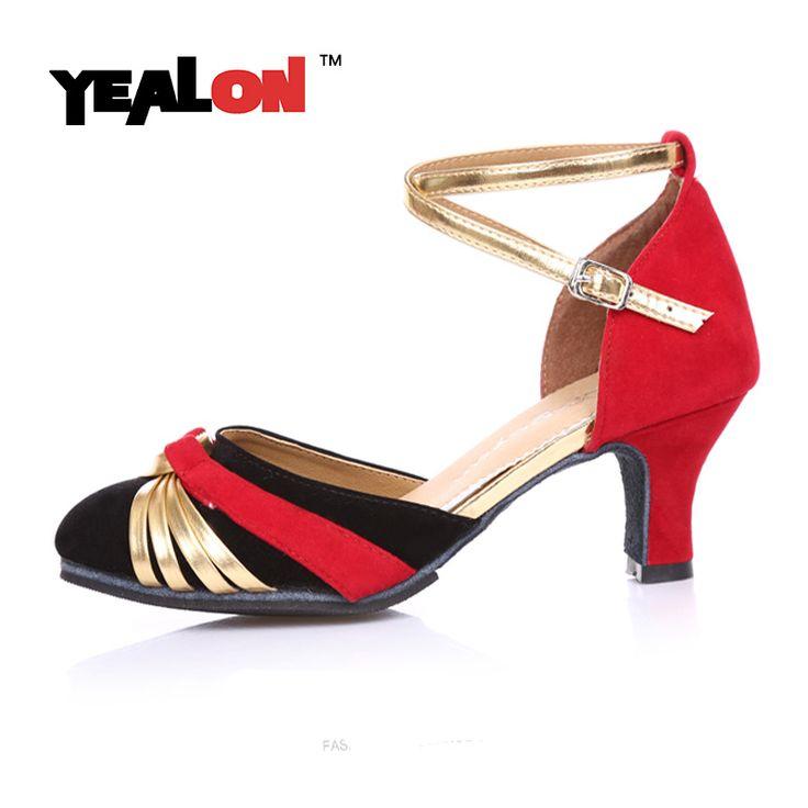YEALON Latin Dance Shoes Latin Salsa Shoes Women Ballroom Zapatos Para Bailar Salsa Zapatos De Baile Latino Mujer Heel 5cm
