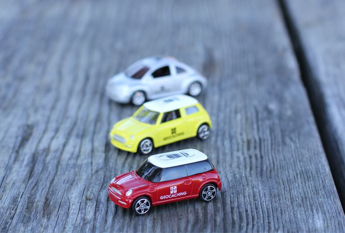 The geocoin concept just got a whole lot faster! Introducing, the 3 car set of the trackable Travel Bug® geocaching cars! http://shop.geocaching.com/default/travel-bugr-car-set.html
