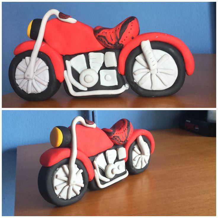 Red Fimo motorcycle