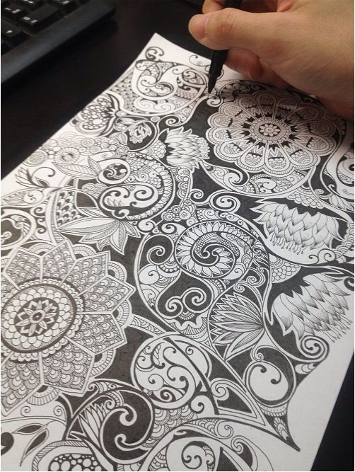 Wish I could doodle like this <<< 'You can do anything you're willing to practice'  ~Unknown