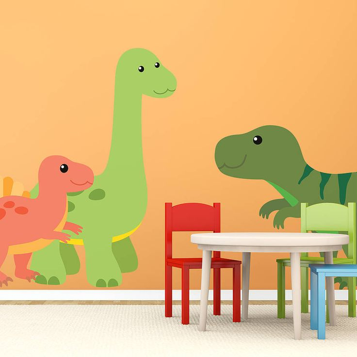 Best Kids Wall Stickers For Bedrooms Images On Pinterest - 3d dinosaur wall decalsd dinosaurs wall stickers decals boys room animals wall decals