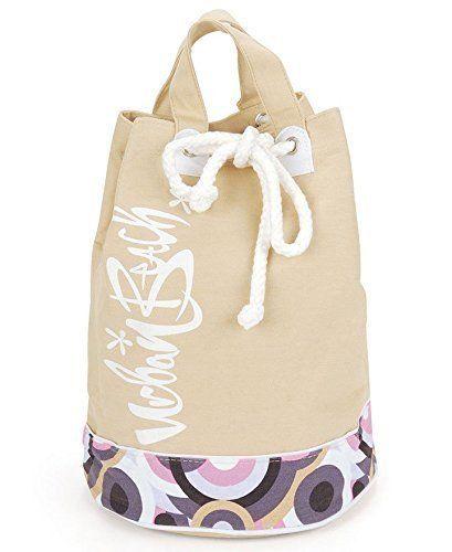 Ladies / Girls Urban Beach Canvas Duffle Beach Bag (Stone)