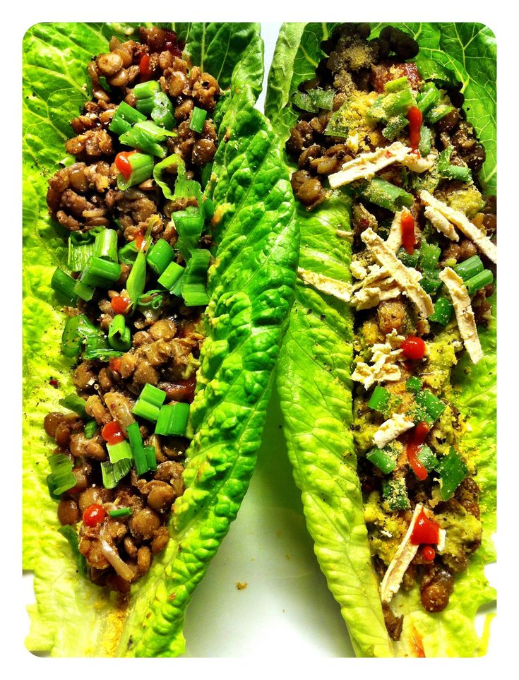 Veganistische tacos in salade wrap - www.Recepten.be