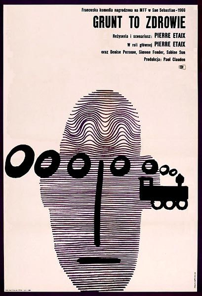 Designer: Andrzej Onegin - Dabrowski. Year: 1966. Title: Grunt to Zdrowie [As Long As You're Healthy] Film: France.