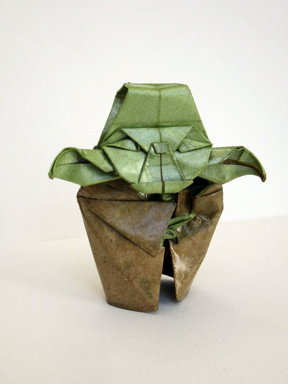 figurine 80mm origami yoda sculpture origami paper war and origami yoda. Black Bedroom Furniture Sets. Home Design Ideas