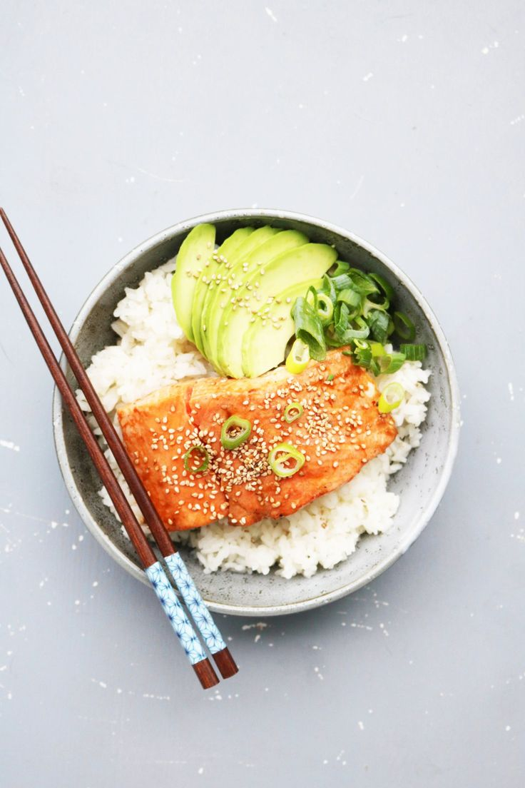 Laks med teriyaki sauce