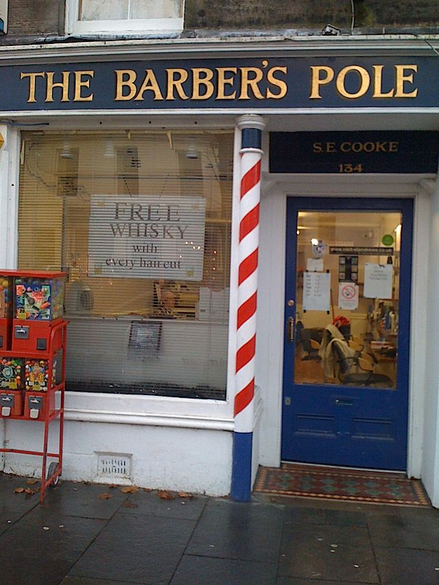 Free whisky with every haircut.