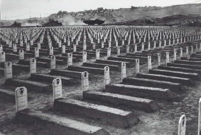The 36-day assault resulted in more than 26,000 American casualties, including 6,800 dead. Of the 20,000 Japanese defenders, only 1,083 survived. The Marines' efforts, however, provided a vital link in the U.S. chain of bomber bases. By war's end, 2,400 B-29 bombers carrying 27,000 crewmen made unscheduled landings on the island.