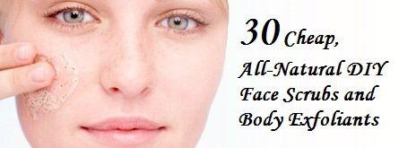 30 DIY Face Scrubs and Body Exfoliants