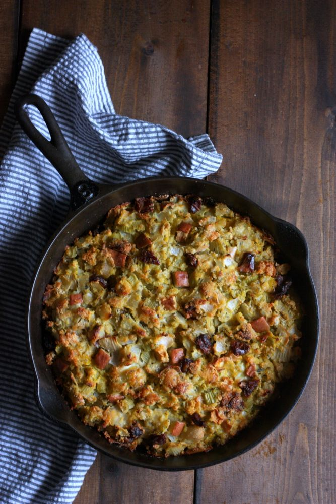 Grain-free stuffing with savory sage and sweet apple. I think I'm going to add in a little bacon this year! #grainfree #glutenfree #stuffing