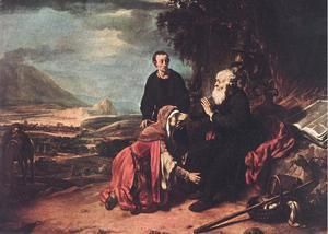 Prophet Eliseus and the Woman of Sunem 1664  Gerbrand Van Den Eeckhout
