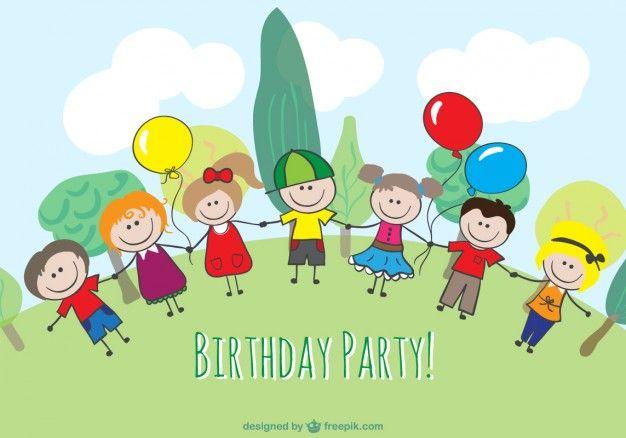 Cartoon children birthday design Freepik-People-pin-3