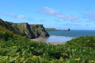 Gower peninsula in Wales near beautiful Rhossili beach