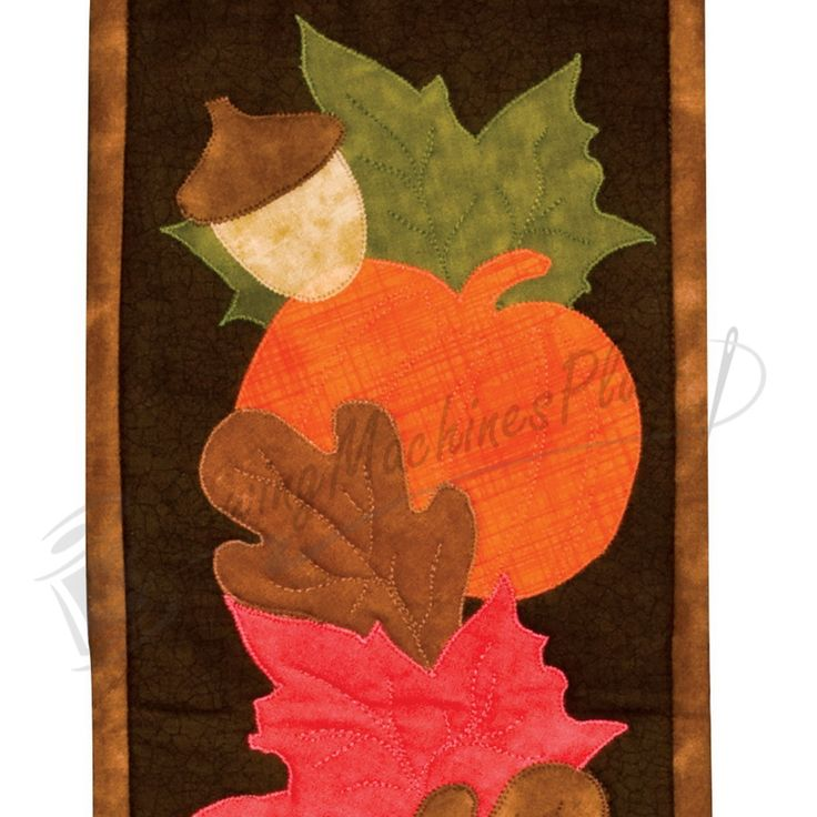fall Applique Templates Patterns | Accuquilt Fall Medley Pattern - 55041