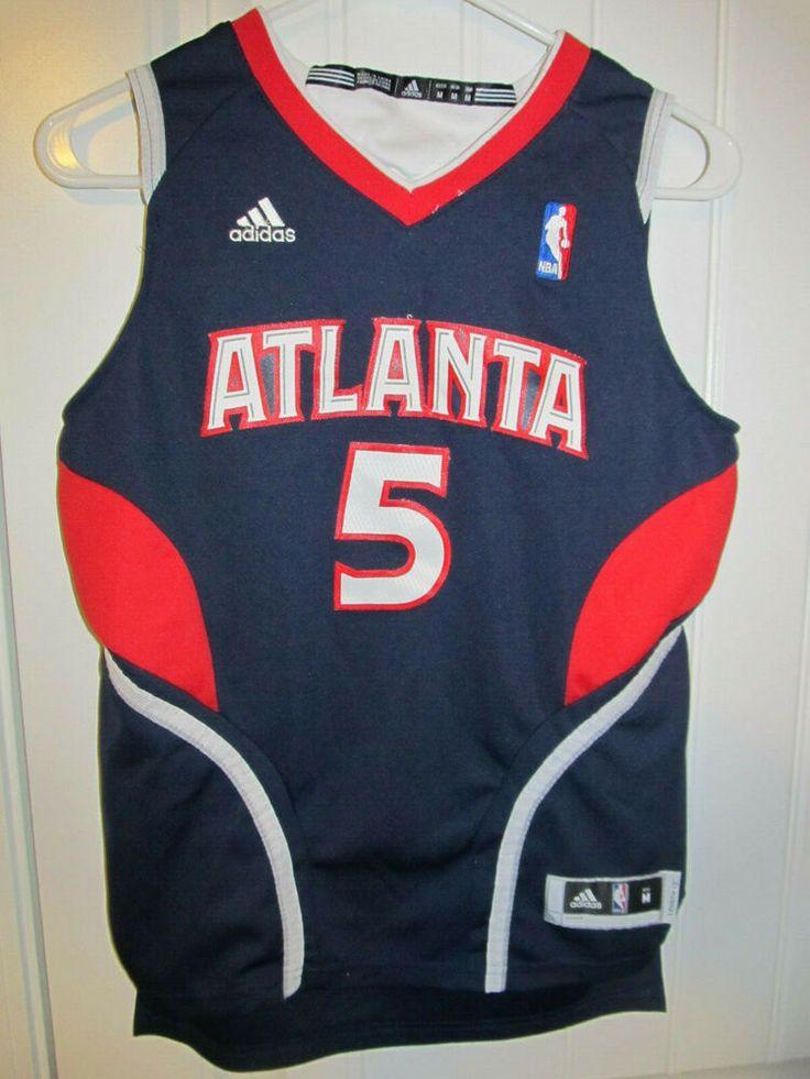 Josh Smith Atlanta Hawks Sewn Jersey Adidas Youth Medium