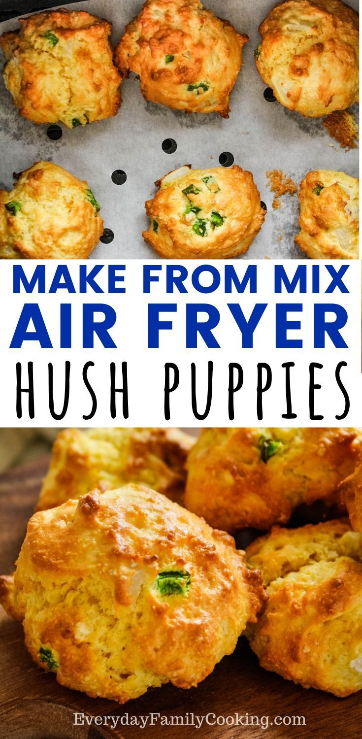 Air Fryer Hush Puppies Made From Jiffy Cornbread Mix Recipe In 2020 Easy Hush Puppy Recipe Air Fryer Recipes Easy Hush Puppies Recipe