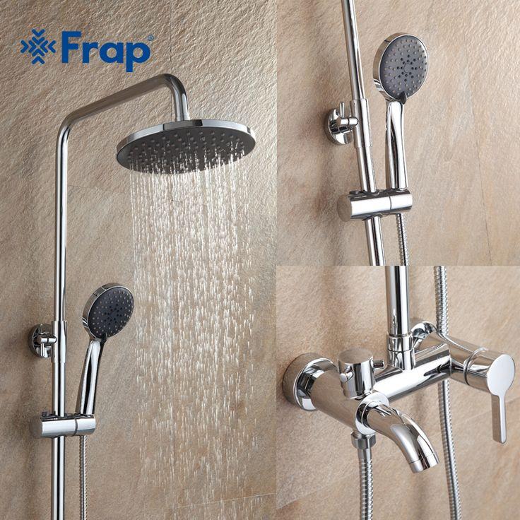 Frap 1 комплект Ванная комната Осадки смеситель для душа набор смеситель с ручной опрыскиватель настенные хром F2416