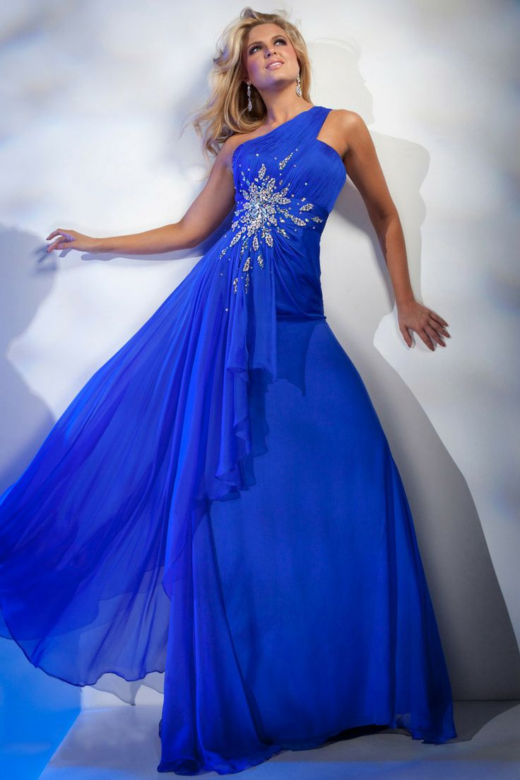 2014 New Arrival One Shoulder A Line Beaded Long Prom Dress Hot Sellling