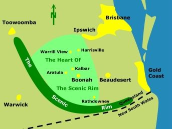 SCENIC RIM TOURISM - ACCOMMODATION, WINERIES, ATTRACTIONS - BOONAH - HEART OF THE SCENIC RIM, QUEENSLAND, AUSTRALIA