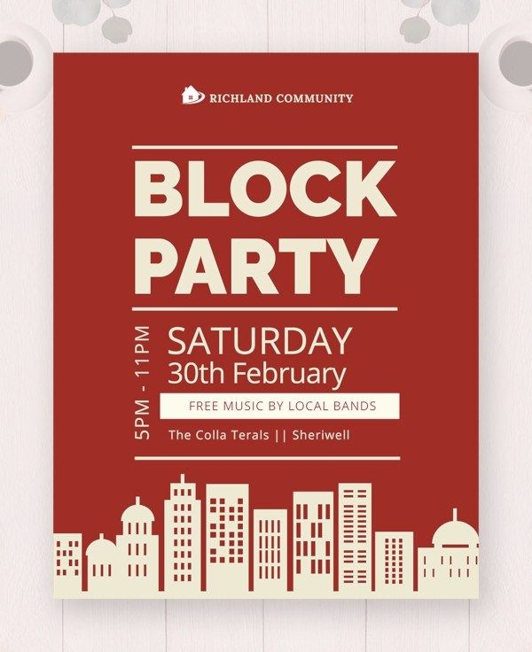 microsoft word party flyer templates