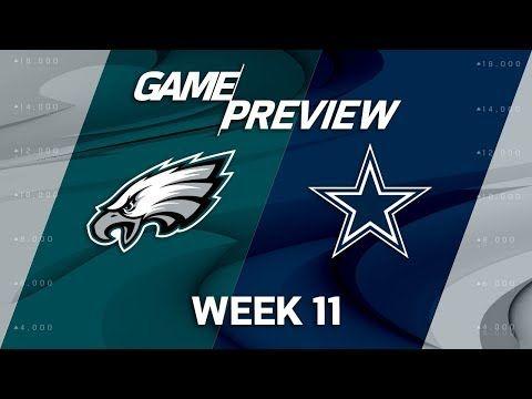 Philadelphia Eagles vs. Dallas Cowboys | NFL Week 11 Game Preview | NFL Playbook - YouTube