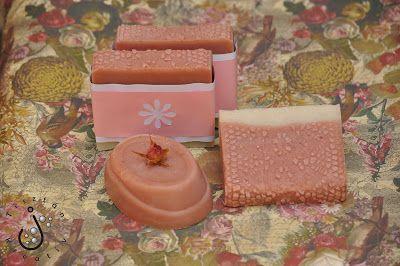 Csipkés rózsás szappan