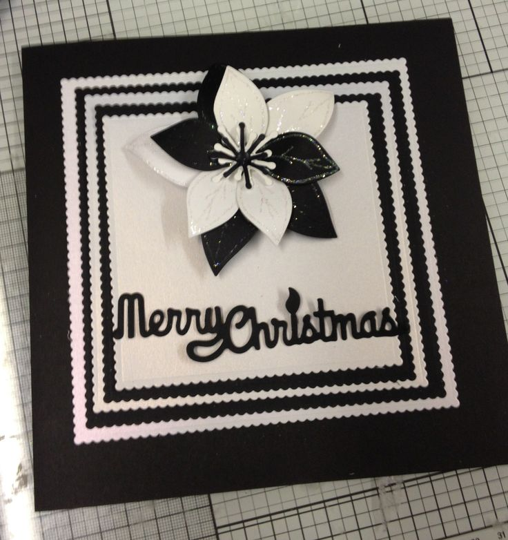 7x7 card in the ever popular black & white